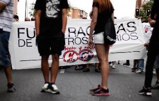 """En imágenes: """"Fuera fascistas de nuestros barrios"""""""