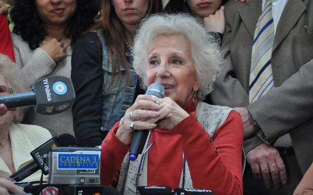 Estela de Carlotto, durante la rueda de prensa.- ANA DELICADO