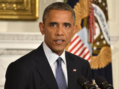 El presidente estadounidense, Barack Obama, comunicando a su país desde la Casa Blanca que autoriza ataques aéreos en Irak.