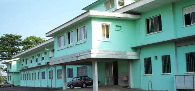 Exterior del Hospital San José de Monrovia, donde ha muerto Chantal Pascaline.