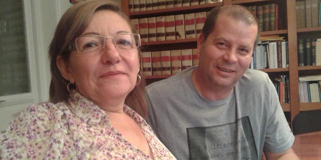Cristina del Río y Julio Suárez, los transportistas autónomos que destaparon el 'caso Mudanzas'.