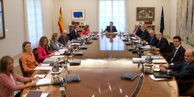 El equipo de Gobierno, al completo. Foto: MONCLOA.