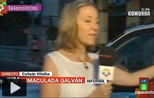 Una reportera de Telemadrid, a punto de ser atropellada y otros vídeos