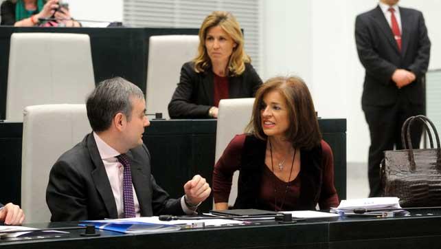 La alcaldesa de Madrid, Ana Botella, en un pleno municipal.