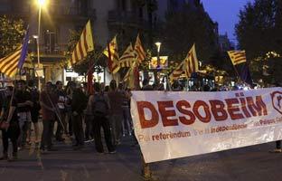 Catalunya, en piecontra<br> la suspensióndel 9-N