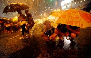 Los manifestantes de <br>Hong Kong anuncian un aumento de las protestas