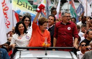Rousseff gana terreno en la recta final de la campaña para las presidenciales